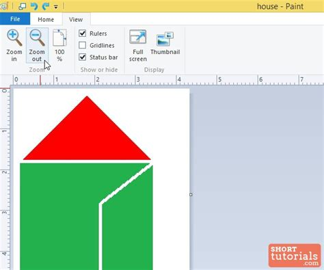 how to use zoom out option in ms paint windows 8
