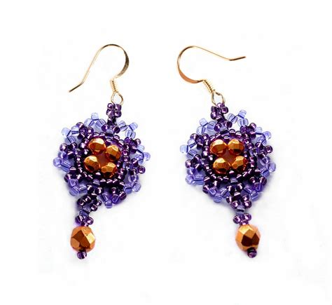 beaded earrings patterns free free pattern for beaded earrings violet magic
