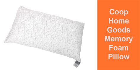 coop home goods memory foam pillow with removable viscose