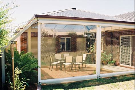 Clear Tinted Patio Pvc Outdoor Blinds Entertain All Outdoor Blinds For Pergola