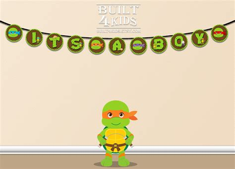 Turtles Baby Shower by Turtle Baby Shower Banner Supplies Instant