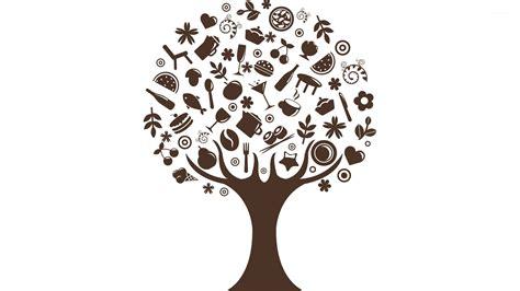 Food growing on trees wallpaper   Vector wallpapers   #26296