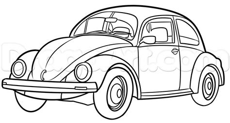 volkswagen bug drawing how to draw a vw beetle by cars draw cars
