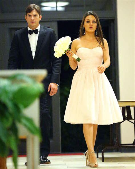 ashton kutcher ad did mila and ashton secretly get married fashion style mag