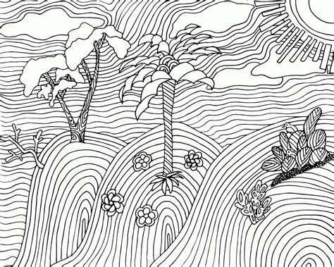 landscape coloring books for adults landscapes coloring pages for adults az coloring pages