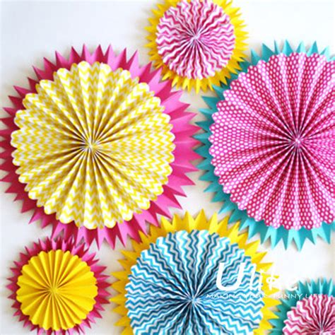 How To Make Hanging Paper Fans - diy tissue paper hanging pinwheel fan colorful fan hanging