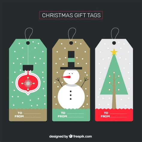christmas gift tags collection vector