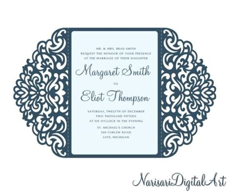 how to create wedding card template for silhouette ornamental 5x7 gate fold wedding invitation card