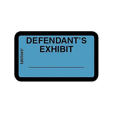 Tabbies Defendants Exhibit Legal File Labels 1 62 Width X 1 Length Blue 252 Pack By Office Depot Tabbies Exhibit Labels Template