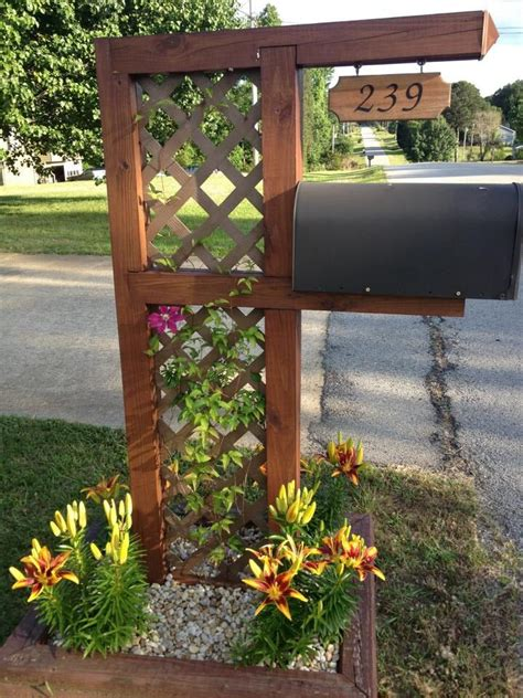 mailbox curb appeal ideas 25 best ideas about mailbox landscaping on
