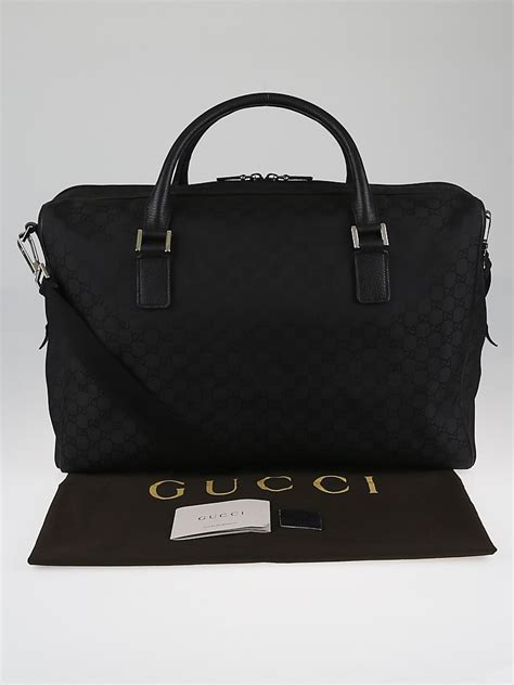 Gucci Large Bag Travel Bag gucci black gg canvas large duffel travel bag yoogi s closet