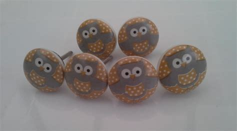 owl draw knobs 6 drawer handles draw knob cupboard door knobs
