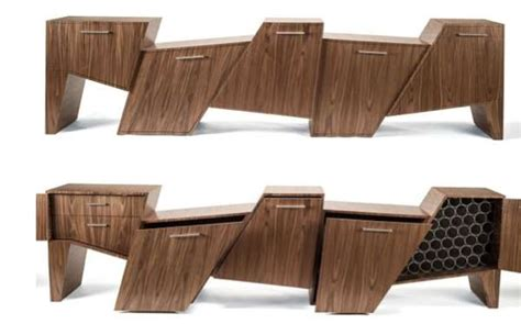 Stool Fragmentation by Choppy Lumber Sideboards Coast Range Cabinet