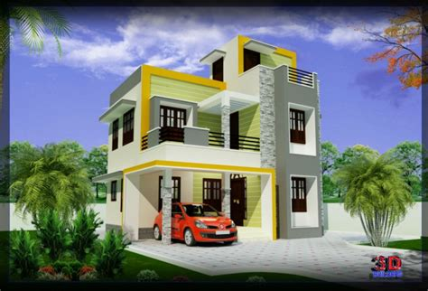 1600 sq ft south indian new home elevations idea