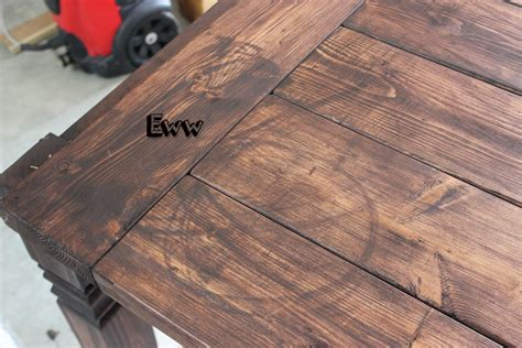 How To Stain Wood Table by Diy Farmhouse Table Free Plans Rogue Engineer