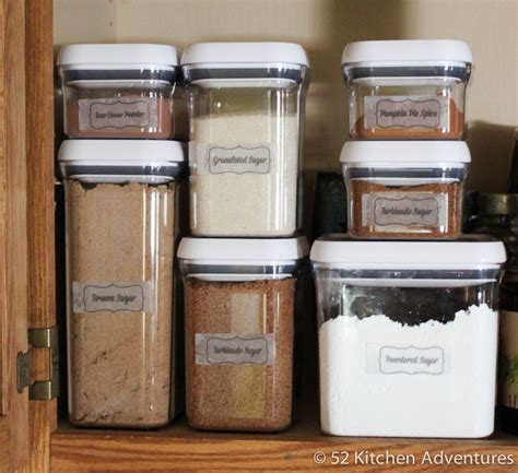 Clear Kitchen Canisters 5 ways to organize your baking supplies