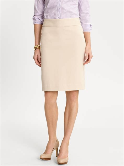 banana republic sloan pencil skirt in khaki soft khaki