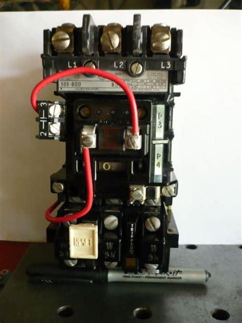 allen bradley 509 motor starter wiring diagram