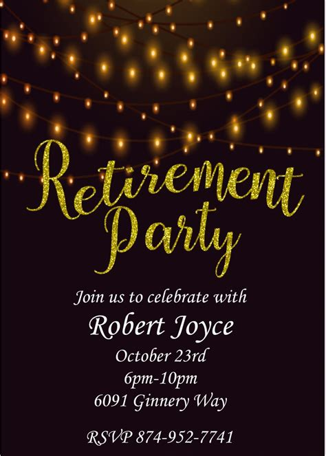 free printable retirement party invitations theruntime com