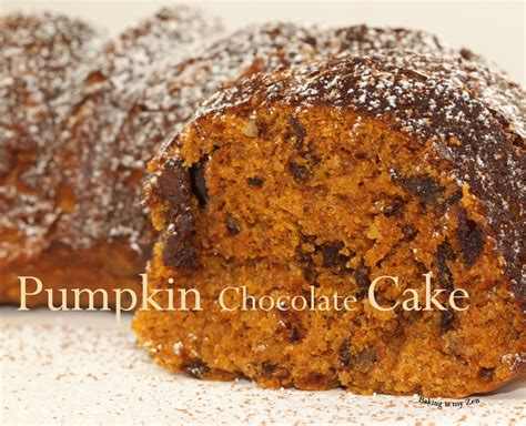 baking is my zen pumpkin chocolate cake fall comfort