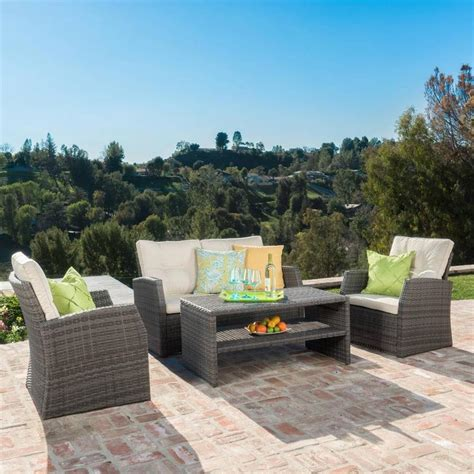 Best Selling Set shop best selling home decor sanger 4 wicker patio