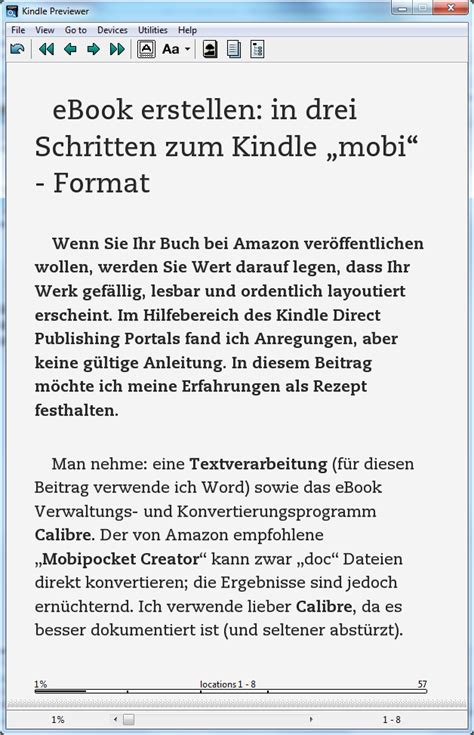 ebook format von kindle ebook erstellen in drei schritten zum kindle mobi