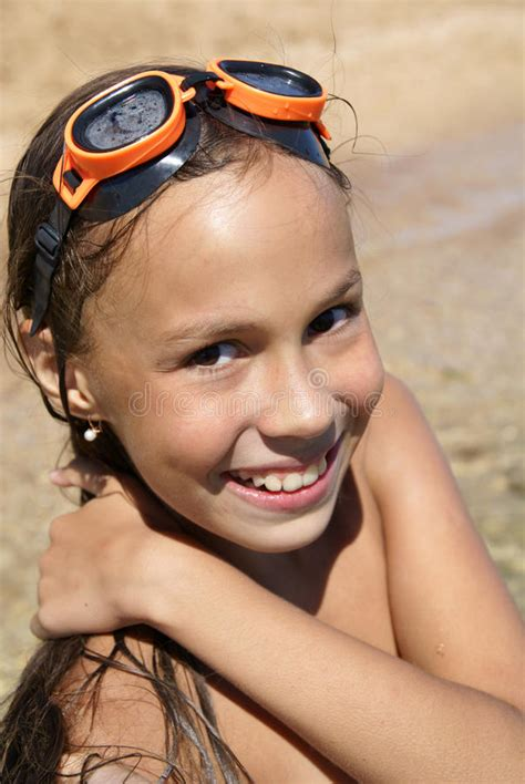 preteen dolce modz preteen girl on sea beach stock image image of bath