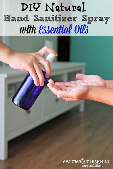 diy natural hand sanitizer spray  essential oils
