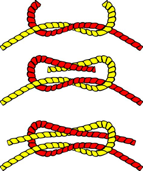 How To Tie A Square Knot Step By Step - knot illustration square clip at clker vector