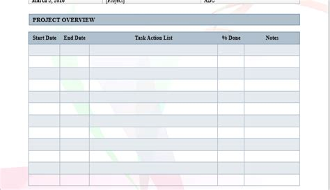 project log word template microsoft word templates