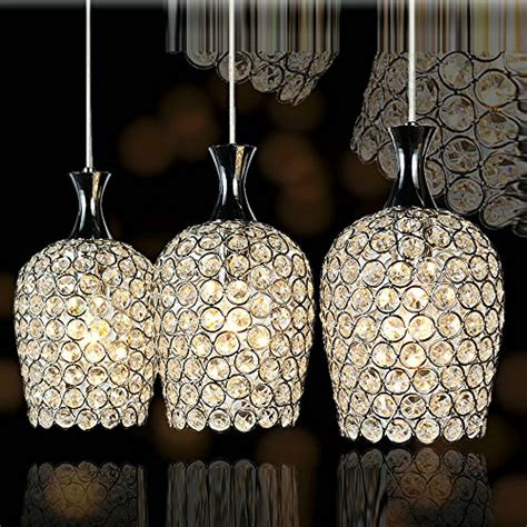 crystal pendant lighting for kitchen dinggu modern 3 lights crystal pendant lighting for