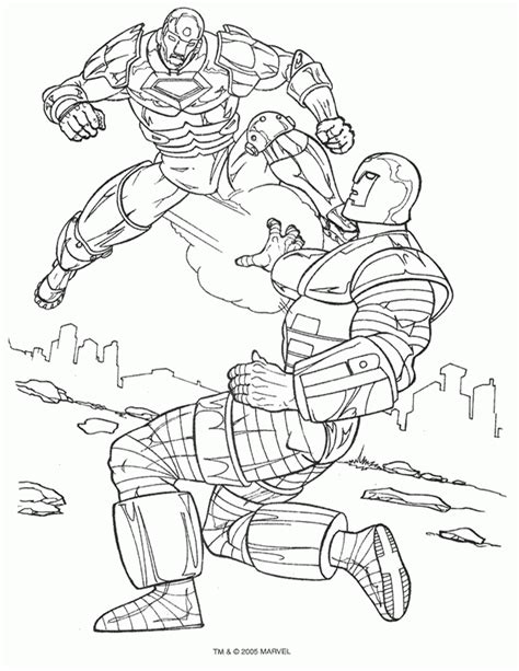 free ironman 2 coloring pages