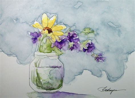 watercolor paintings by roseann garden flowers watercolor painting