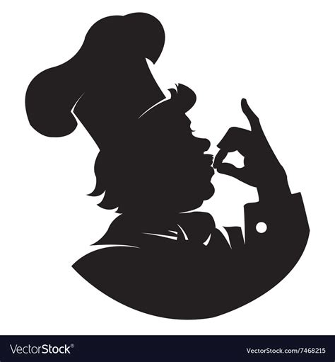 Chef Clipart by Silhouette Chef Royalty Free Vector Image Vectorstock
