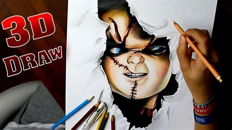 3d childsplay chucky speed drawing images