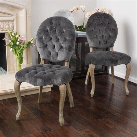 Velvet Dining Room Chairs by Christopher Home Marianne Grey Velvet Dining Chair
