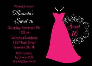 Sweet 16 Birthday Invitation Templates by Items Similar To Dress Sweet 16 Birthday Invitation
