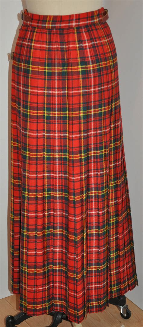 l s ayres and co bold plaid maxi wrap skirt for sale