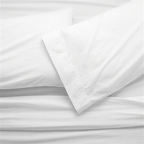 organic cotton bed sheets washed organic cotton sheet sets crate and barrel