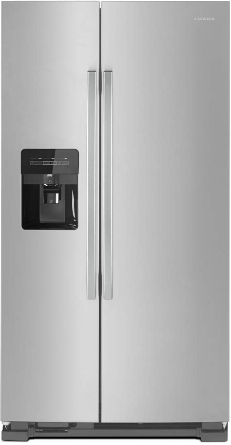 Freezer Mini Asi amana asi2175grs 33 inch side by side refrigerator with temp assure external dispenser dairy