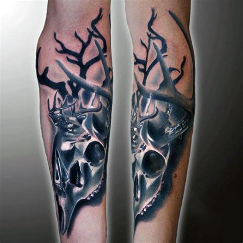 outdoor tattoo designs 90 deer tattoos for manly outdoor designs deer