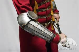 Medieval sca legal splint combat armor bracers with elbow cops for