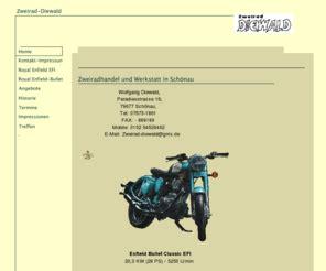 Sommer Diesel Motorrad Gebraucht by Zweirad Diewald De Royal Enfield Und Britische Motorr 228 Der