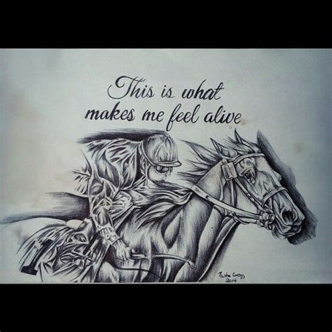 horse racing tattoo designs thoroughbred racehorse ballpointpen drawing ink