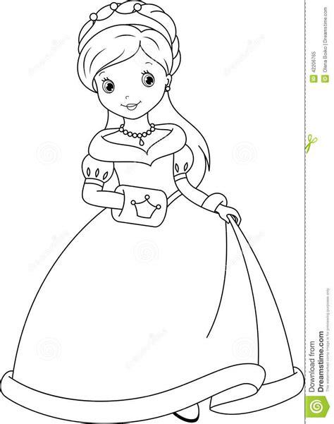 Princess Coloring Page Stock Vector Image 42206765 Beautiful Princess Coloring Pages