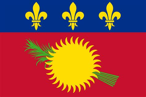 guadeloupe flag coloring country flags