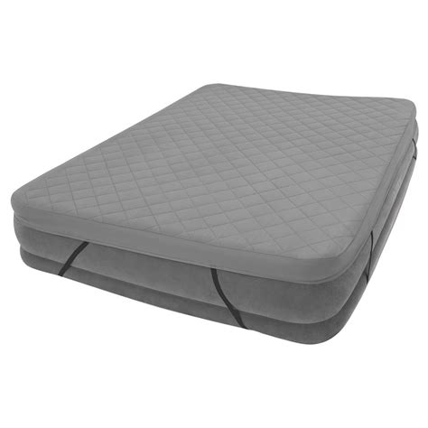 intex comfort intex comfort plush high rise queen size airbed with built