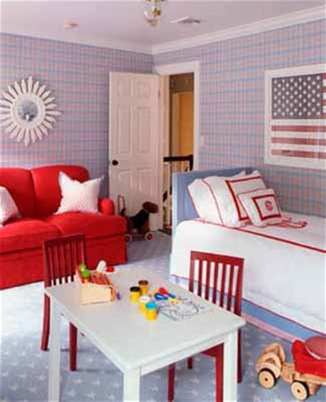 red and blue home decor patriotic decoration kids rooms decor flags color schemes