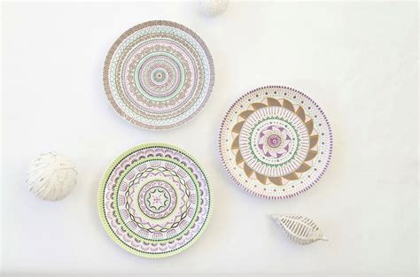 Decorative Wall Plates Set by Plate Set Painted Plates Decorative Plates Wall