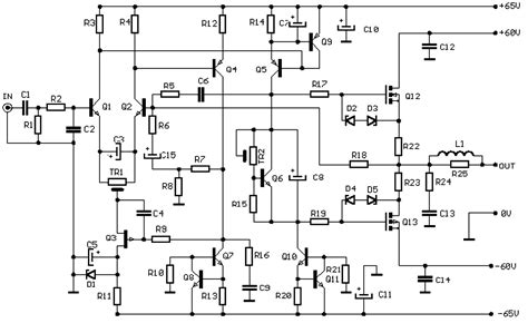 Power Lifier Audio Seven transistor audio power lifier schematic diagrams wiring